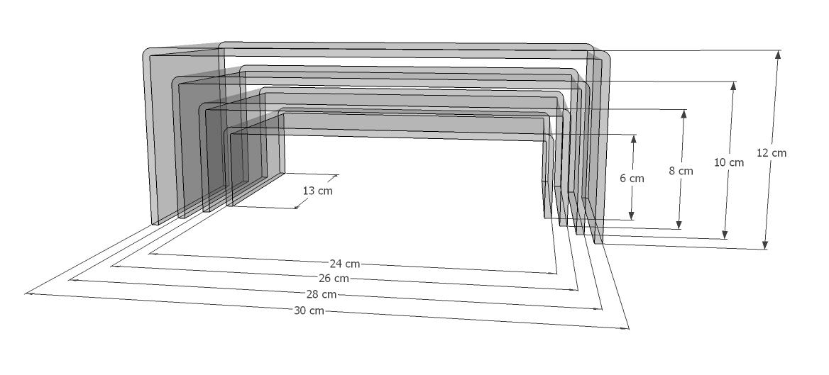 Acrylbrücken-Set 4-teilig