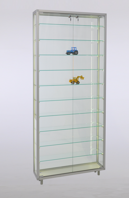 vitrine c7819 78x19x183 5 cm aus esg sicherheitsglas serie class. Black Bedroom Furniture Sets. Home Design Ideas